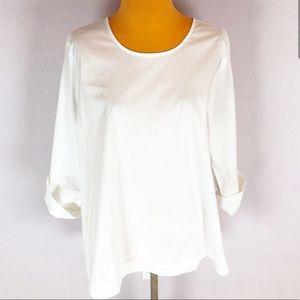 J. Jill White Shirt Collection Button Back Sz Lp